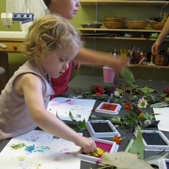 Flower Printing with Liquid Watercolors