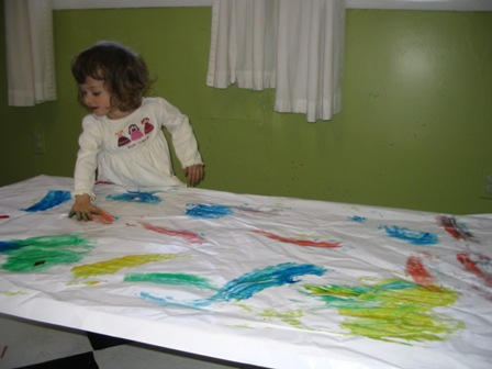 Maia fingerpainting