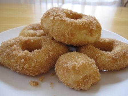 Homemade Heart Doughnuts
