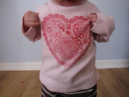ArtfulParent.com Heart Doily T-shirt