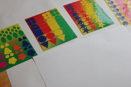 Sticker Art with Shape Stickers