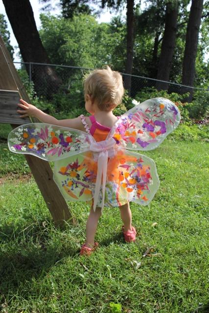 halloween for kids: flower fairy wings tutorial