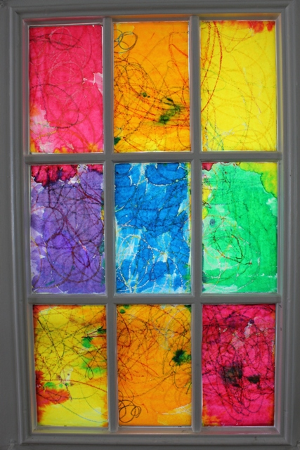 DIY Rainbow Stained Glass Window