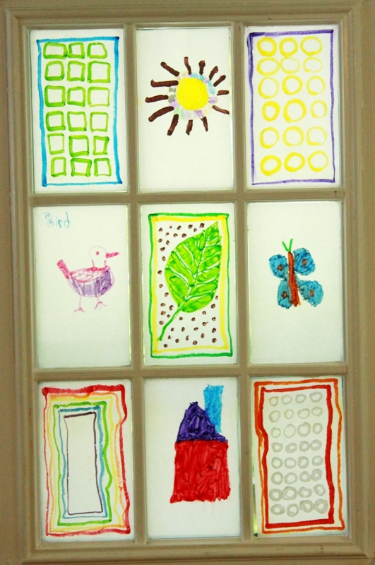 Melted Crayon Stained Glass for Kids