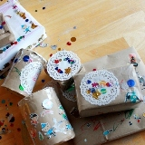 Decorating Packages with Stickers