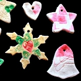 Stamped Salt Dough Ornaments