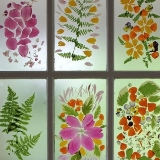 Flower Petal Stained Glass Door