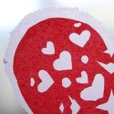 Tissue Paper Heart Doilies
