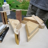 Scrap Wood Sculptures with the Art Group