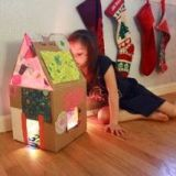 Rainbow Lighted Cardboard Dollhouse