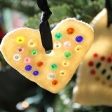 Beaded Salt Dough Ornaments