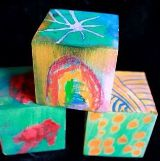 Melted Crayon Art Blocks