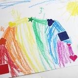 Rainbow Sticker Art