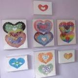 Coffee Filter Hearts Framed