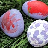 Painting Easter Rocks