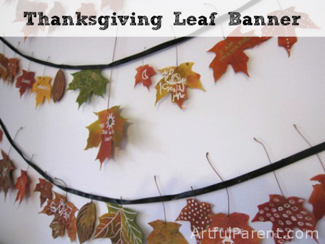 Thanksgiving Leaf Banner
