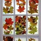 Autumn Leaves Stained Glass Door