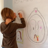 DIY Frame Wallpaper for Childrens Drawing