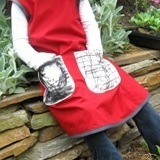 Hand Drawn Pinafore Pockets