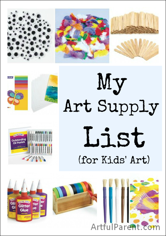 List of art materials for Waste material art for kids