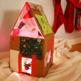 Collage Cardboard Dollhouse