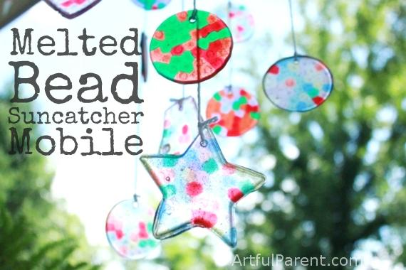 Melted Bead Suncatcher DIY Baby Mobile
