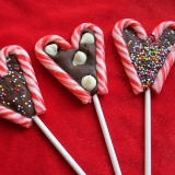 Making Candy Cane Lollipops
