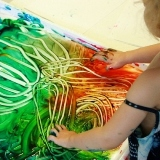 Finger Painting with Sensory Sand Finger Paint