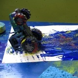 Painting and Printing on Canvas with the Toddler Art Group