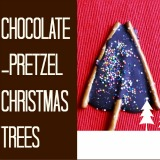 Chocolate- Pretzel Christmas Trees