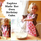 Daphne Made Her Own Birthday Cake, Too!