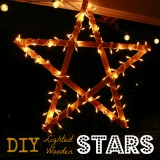 DIY Lighted Wooden Stars