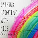 Bathtub Painting with Kids