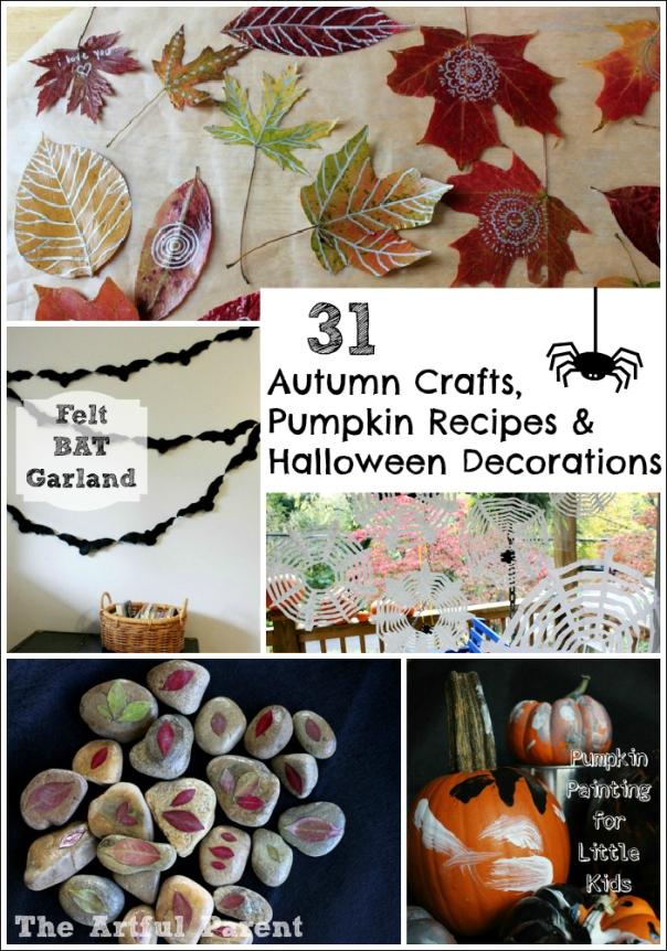 31 Autumn Crafts, Pumpkin Recipes and Halloween Decorations
