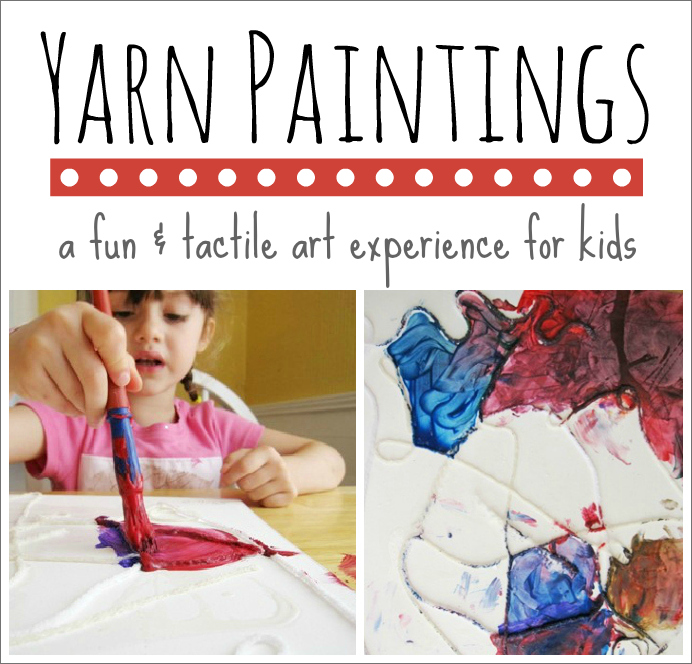 Yarn Painting -- A Fun and Tactile Art Activity for Kids