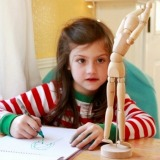 Observational Drawing with Kids-- Using a Wood Human Figure