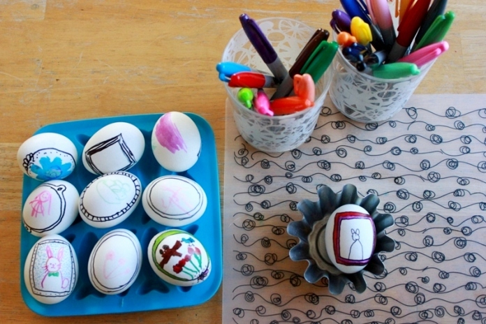 Easter Eggs Drawing in Frames 37