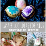 Easter Egg Ideas for Kids Drawing in Frames