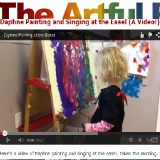 Daphne Painting and Singing at the Easel (A Video!)