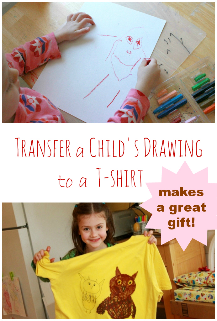 Transfer A Kids Drawing to A T-Shirt -- Makes a Great Gift!