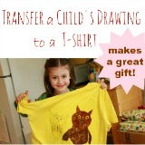T-shirt transfers iron on a fave childs drawing to a tshirt