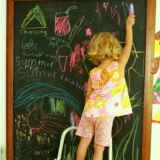 A Summer Fun List on the Chalkboard