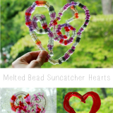 Melted Bead Suncatchers Beautiful Free Form Hearts