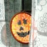 A Melted Bead Jack O Lantern Suncatcher