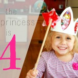 The Princess is 4! (& A DIY Melted Bead Fairy Wand)