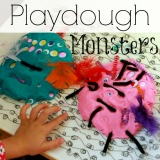 Playdough Monsters Other Fun Ideas with Poke Ins
