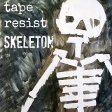 A (full sized) tape resist skeleton painting