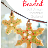 Sparkly beaded salt dough ornaments suncatchers garlands