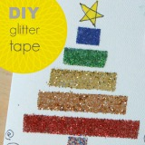 DIY Glitter Tape and Handmade Christmas Cards