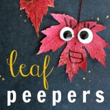Leaf peepers a fun and easy fall craft for kids